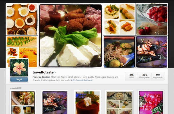 Instagram TravelToTaste - Federica Giuliani
