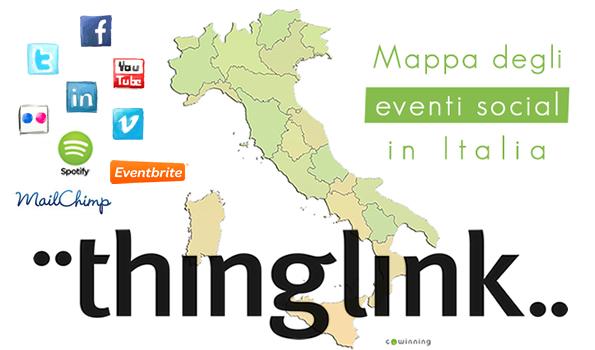 La mappa degli eventi social in Italia realizzata con Thinglink