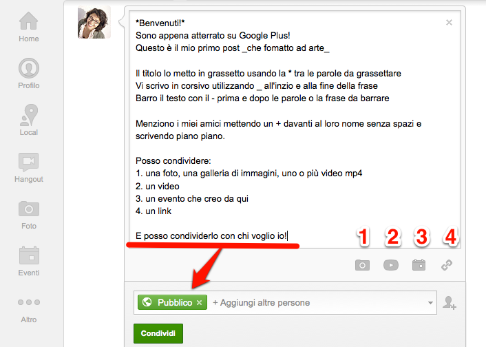Come formattare e pubblicare un post su Google Plus