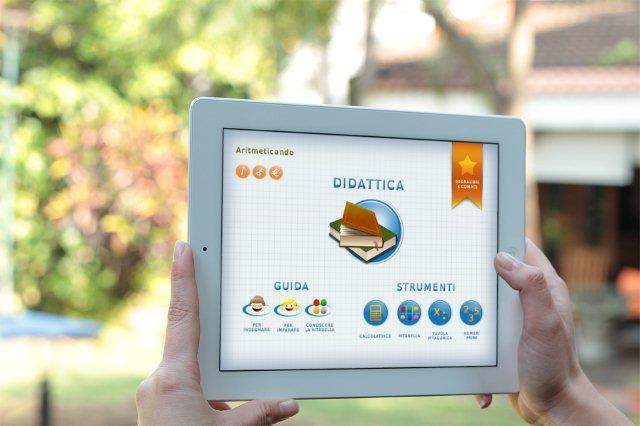 bisogni speciali: homepage dell'app Aritmeticando su iPad