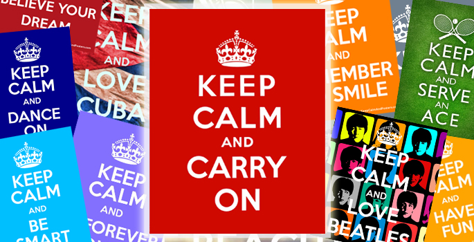 Keep Clam and carry on - da manifesto di propaganda a icona