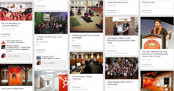 Behind the scenes - hubspot - pinterest