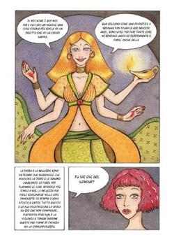 Una tavola del fumetto Lamour di Julie Maggi