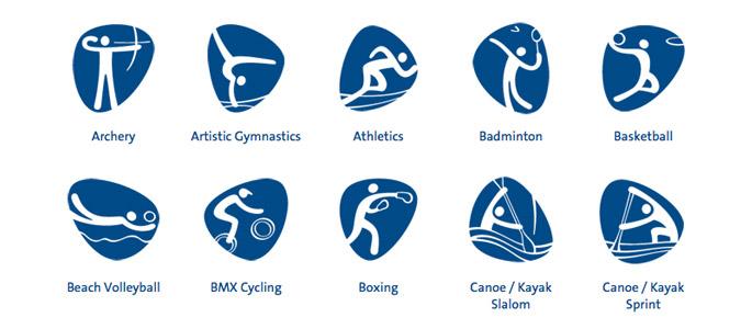 Pittogrammi olimpiadi Rio 2016
