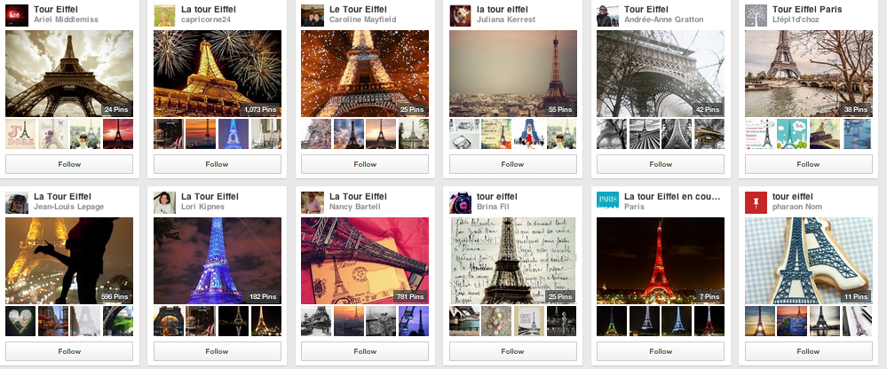 Tour Eiffel - Pinterest